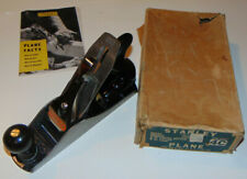 VTG 1950s STANLEY TOOLS 4C SMOOTH PLANE W/BOX! VERY NICE SHAPE! CORRUGATED 4-C