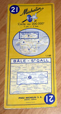 Carte MICHELIN N° 21 - Bale - St Gall 1961 Suisse