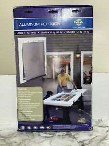 NEW PetSafe Freedom Aluminum Pet Door with Closing Panel Large for 1-100 lb