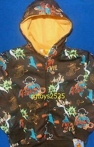 Disney Phineas and Ferb AGENT P Childs 8 M 10-12 L Sweatshirt Jacket Hoodie New