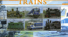Gambia 2002 MNH World of Trains 6v M/S Railways Züge Trenes Treni Chemin de Fer