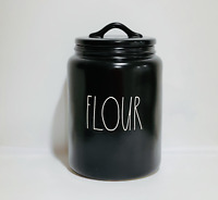 Rae Dunn Artisan Collection By Magenta FLOUR Black Large Canister