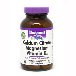 Blue Bonnet Calcium Citrate Magnesium Plus Vitamin D3 90 Caplets FREE SHIPPING