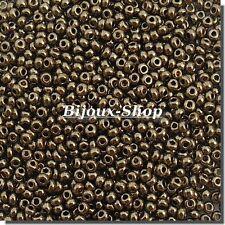 20 g Perlen aus rocaille Tschechisch Bronze Gold 2,4 mm Marke Ornella