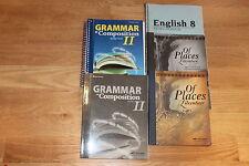 A Beka English Grammar Literature 8       Lot  of 5 books     Middle School