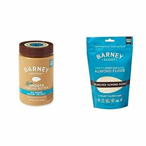 BARNEY Almond Butter Bare Smooth No Sugar No Salt Paleo KETO Non-GMO Skin-Fre...