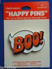 HALLMARK 1984 Halloween PIN BOO! Caption Flat Style Holiday Jewelry LAPEL PIN