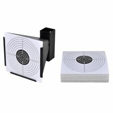 "5.5"" Shooting Funnel Target Holder + 100 Targets Air Rifle/Airsoft Pellet Trap"