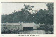 ASHLAND MA Fisher Street Bridge VINTAGE POSTCARD