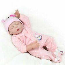 "22"" 55cm Full Body Silicone Vinyl Reborn Doll Baby Lifelike Newborn Toy Dolls"