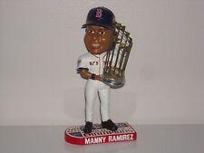 MANNY RAMIREZ Boston Red Sox Bobble Head 2007 World Series Champs Trophy MLB**