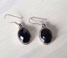 925 sterling silver black facetted Onyx earrings