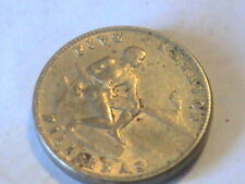 Philippines U.S. Administration Copper-Nickel 1945 S 5 Centavos