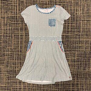 Girls 10  Matilda Jane 435 Eleanor Lap Dress $54 Green S/S Knit