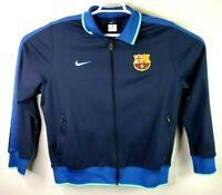 Nike Mens FCB Barca Barcelona Track Athletic Soccer Jacket Size XL.