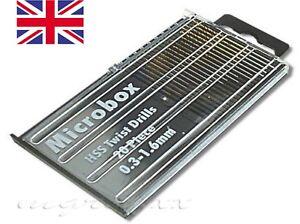20xSMALL HSS MICRO DRILL BIT 0.3-1.6mm  DREMEL  JEWELRY  PCB HOBBY  MODEL CRAFT