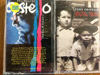 2 Cassette Tapes Elvis Costello Brutal Youth Best of Elvis Costello Attractions
