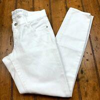 Old Navy Womens Rockstar Legging Jeans Size 8 White Denim Stretch Pants