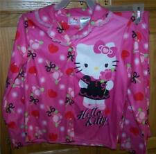 Hello Kitty Pajamas PJs Dark Pink 2 pc Long Sleeve Sleep Pants Girls 7-8