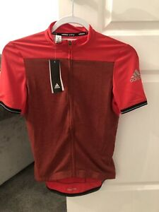 adidas BS4658 CLMCHILL SSJSYW Red Jersey- Size Small- New With Tags