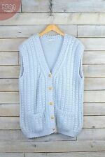Chunky, Cable Knit V Neck Button Wool Blend Women's Jumpers & Cardigans