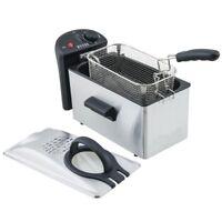 Gastro Qualität Edelstahl Friteuse 3l 2100Watt H.koenig DFX300