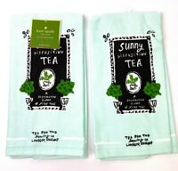 Kate Spade Tea for Two Cotton Kitchen Towels 2 pack set NEW