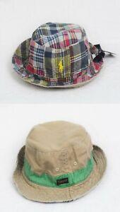Polo Ralph Lauren Reversible Bucket Cap Patchwork Khaki Hat NWT
