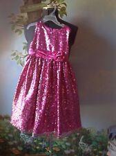 American Princess Girls Pink Sequin Sleeveless Occasion Dress Size 6X