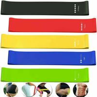 5Pcs Heavy Duty Resistance Bands Loop Exercise Sport Fitness Tube Home Yoga Gym