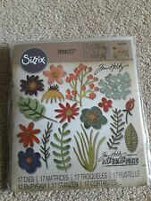 Tim Holtz Alterations Sizzix Thinlits Funky Floral #1 Die Set *NEW* 17 Dies