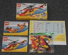 Lego Creator 5866 RETTUNGSHELIKOPTER Hubschrauber Doppeldecker Speedboot KPL OVP