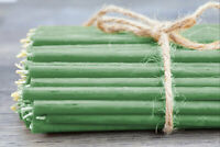 🟢100 X 16cm Grüne Bienenwachs Kerzen Diveevo Зеленые восковые церковные свечи