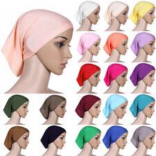 Ladies Muslim Hijab Soft Head Scarf Wrap Turban Cap Cover Bonnet Hair Loss Hat