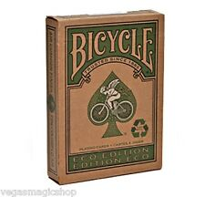 Eco Deck Bicycle Playing Cards Poker Size USPCC Limited Edition Green Recyclable