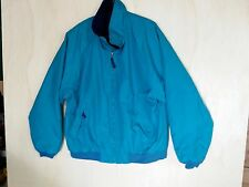 ProRainer Large Men's Nylon PU Coat Teal Micro Fleece Lining