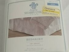 """Simply Shabby Chic White King Bedskirt 15"""" drop"""