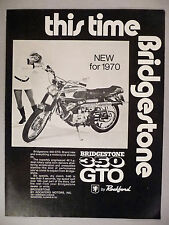 Bridgestone 350 GTO Motorcycle PRINT AD - 1970 ~~ by Rockford