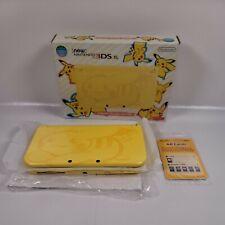 New Nintendo 3DS XL Pikachu Yellow Edition Yellow Console Pokemon Rare