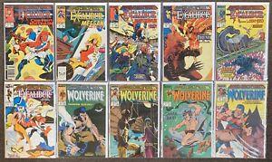 Marvel Comics Presents #33,34,35,36,37,38,39,40,41,42 Wolverine Excalibur 1989