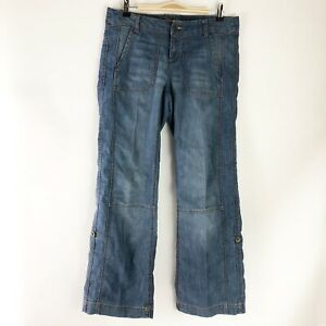 Angel Kiss Roll Cuff Cargo Jeans - Juniors Size 7