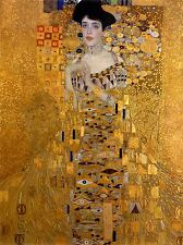CULTURAL GUSTAV KLIMT BLOCH BAUER PORTRAIT SECESSION ABSTRACT POSTER ART BB652A