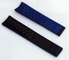 Black/Blue Sports Watch Band to fit TAG Heuer Carrera models with FC5037/9 Clasp