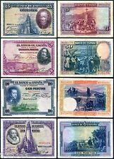 LOTE 4 BILLETES ESPAÑA 25 50 100 Y 100 PESETAS 1925 1928  BC MBC / SPAIN  F VF