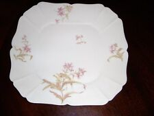 ANTIQUE CH. FIELD HAVILAND LIMOGES SQUARE CAKE PLATE     9 1/4""