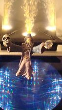 Wizard w/ Crystal Ball Skull Figurine