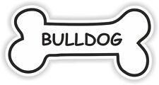 BULLDOG BONE STICKER BREED NAME DOG FOOD BOWL PUPPY PET VINYL DECAL