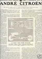 1919 Publicité-Fiche technique CITROËN 10 HP