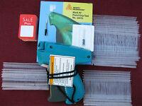 Avery Dennison Regular Tagging Gun +1000 Barbs +100 Sale  Price Tag +1 Ex Needle