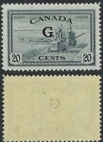 Canada Scott O23: 20c Combine Peace Issue with official G overprint, VF-NH